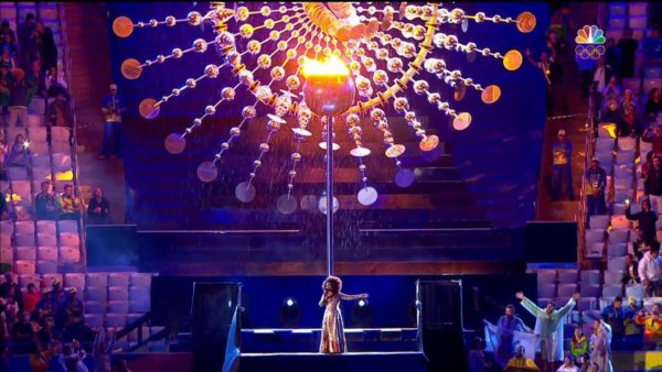 The Olympic flame is extinguished, ending the Rio Games