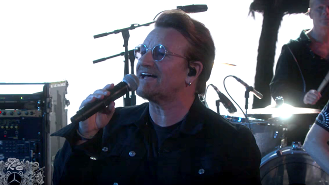 U2 Surprised Jimmy Kimmel Live fans with a performance of