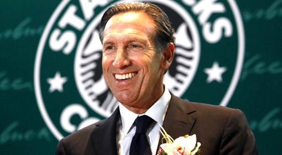 Starbucks CEO Howard Shultz